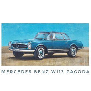 """""""Mercedes Benz W113"""" ⠀50х100см ⠀холст/акрил ⠀ ⠀Не бита, не крашена.  ⠀Оч. хор, б/у, идеальное состояние ⠀Уже продана в коллекцию ценителю ) ⠀ ⠀#ЧибисковПавел #художник #Картины #Живопись #Искусство #картинаназаказ #арт #холстакрил #паркгорького #pavelchibiskov #art #paintings #mercedes #mercedesbenz #pagoda #w113 #w113pagoda #автомобили_чибисков"""
