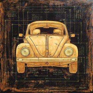 VW Kafer ⠀70x70см ⠀холст, акрил, масло ⠀ ⠀#ЧибисковПавел #художник #Картины #Живопись #Искусство #картинаназаказ #арт #холстакрил #паркгорького #pavelchibiskov #art #paintings #vw #volkswagen #beetle #kafer #drawing #loft #auto #wooden  #oldtimer