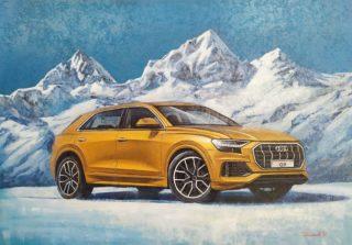Продолжаю пополнять экспозицию в @audi_sochi в сотрудничестве с @sochi.fort ⠀На этот раз картина с узнаваемой Audi Q8 на фоне снежных вершин. Оранжевый цвет кузова отлично сочетается с синим небом и тенями на снежных макушках гор. ⠀70х100см ⠀холст, акрил ⠀картина продаётся ⠀ ⠀#ЧибисковПавел #художник #Картины #Живопись #Искусство #картинаназаказ #арт #холстакрил #паркгорького #pavelchibiskov #art #paintings #audi #sochifort #q8 #auto #orange #mountains #sochi #audisochi #quattro #firegold #artauto