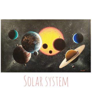 Солнечная система ⠀70х120см ⠀холст, акрил ⠀Представлена в галерее Форт в Сочи @sochi.fort ⠀ ⠀Планеты, спутники и Солнце крупным планом, на фоне многочисленных звёзд и их скоплений.  ⠀ ⠀#ЧибисковПавел #художник #Картины #Живопись #Искусство #картинаназаказ #арт #холстакрил #паркгорького #pavelchibiskov #art #paintings #solarsystem #space #cosmo #cosmic #outerspace #sunsystem #planets #sun #jupiter #saturn #earth #stars #spacex